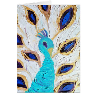 Cartão Pavão real (arte de Kimberly Turnbull)