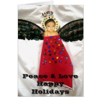 Cartão Paz & amor boas festas