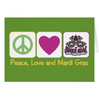 Cartão Paz, amor e carnaval
