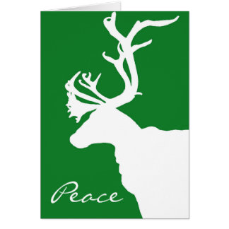 Cartão Paz branca da rena