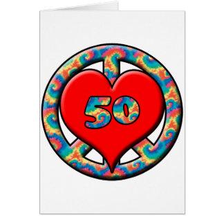 Cartão Paz, coração, 50