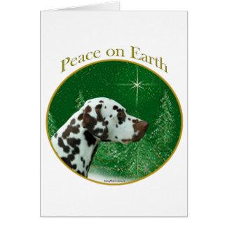 Cartão Paz Dalmatian (do fígado)