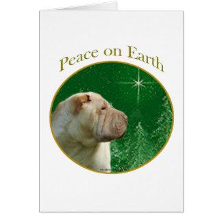Cartão Paz de Shar-Pei do chinês
