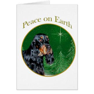 Cartão Paz do setter de Gordon