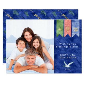 Cartão Paz na foto do feriado das bênçãos da terra |