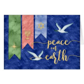 Cartão Paz na foto GRANDE do feriado das bênçãos da terra