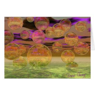 Cartão Paz na tranquilidade violeta e ambarina da