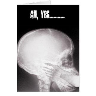 Cartão Pé no raio X da boca