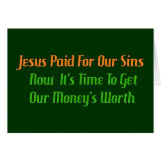 Cartão Pecado pré-pago
