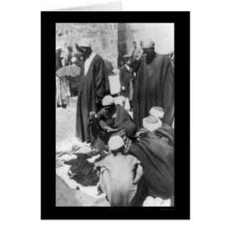 Cartão Peddler do grânulo em Damasco, Syria 1892