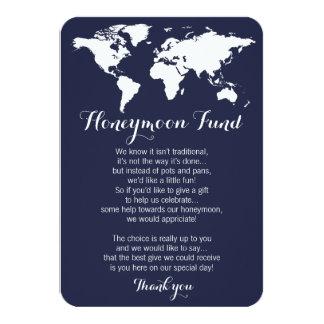 Cartão Pedido do fundo da lua de mel que wedding a cor