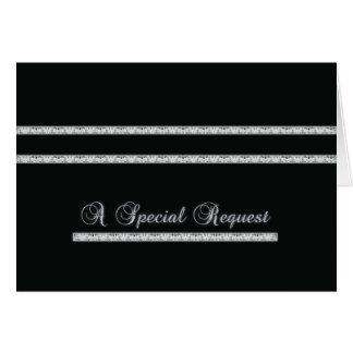 Cartão Pedido especial - formal - preto e prata