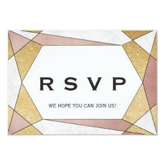 Cartão Pedido geométrico Glam RSVP da canção do diamante