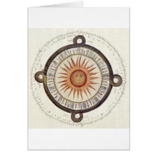 Cartão Pedra asteca de Sun