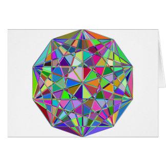 Cartão Pedra de gema tirada Kaleidescope colorida
