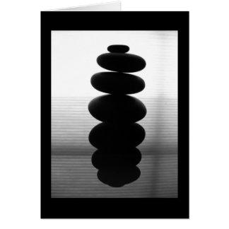Cartão Pedras do zen