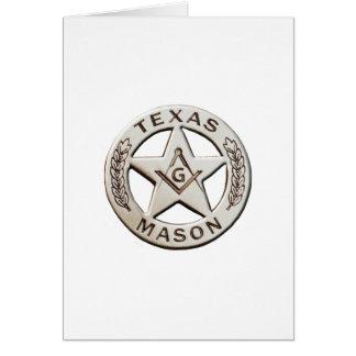 Cartão Pedreiro de Texas