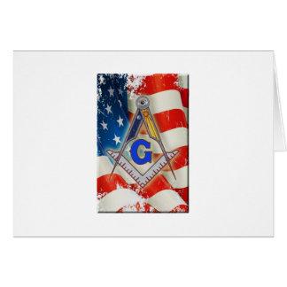 Cartão Pedreiro patriótico