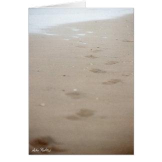 Cartão pegadas - Fußspuren