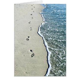 Cartão Pegadas na areia