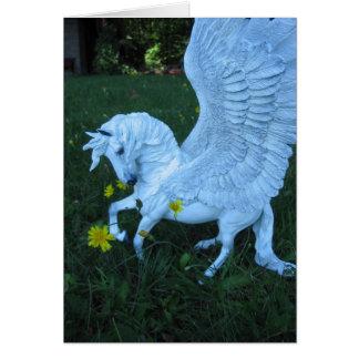 Cartão Pegasus branco