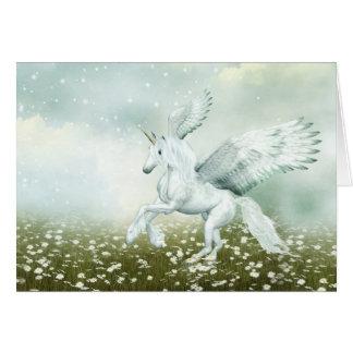 Cartão Pegasus nas margaridas