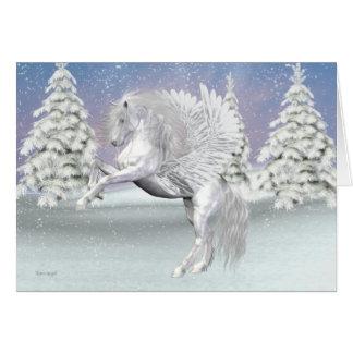 Cartão Pegasus. O cavalo voado