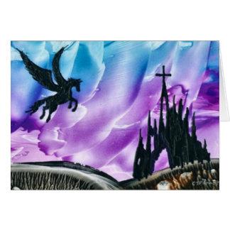 Cartão Pegasus sobre ruínas
