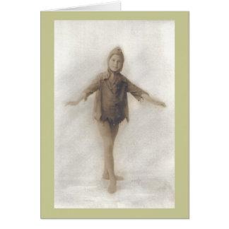 Cartão Peggy como um duende
