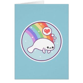 Cartão Peixe-boi bonito