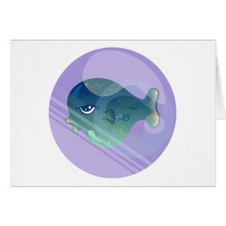 Cartão Peixes da bolha