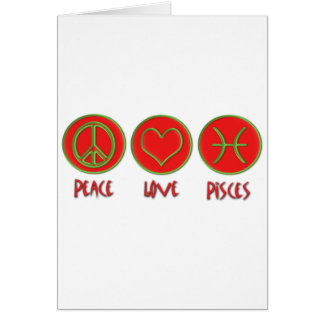 Cartão Peixes do amor da paz