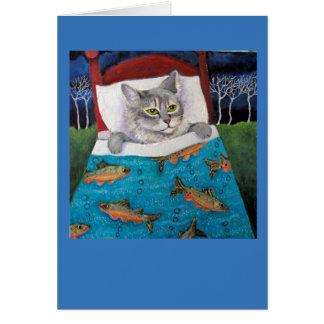 Cartão Peixes do gato