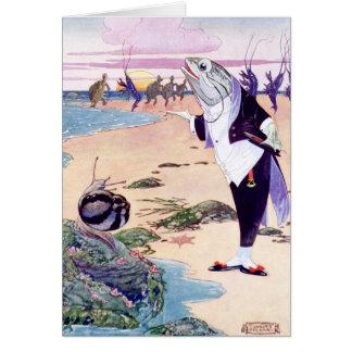 Cartão Peixes Maitre'D no Quadrille da lagosta