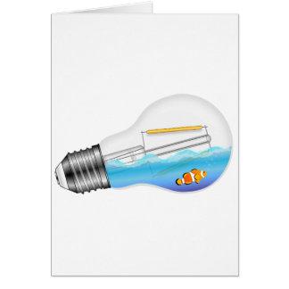 Cartão Peixes na ampola