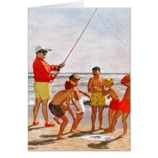 Cartão Peixes pequenos grandes de Pólo por Richard
