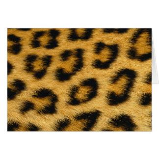 Cartão Pele do leopardo, pele, impressão do cabelo