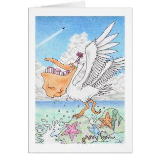 Cartão Pelicano do aniversário