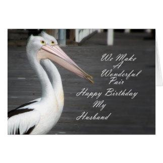 Cartão Pelicanos do aniversário dos maridos