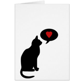 Cartão Pelo menos seu gato ama-o