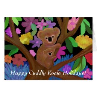 Cartão peluches feliz do feriado do Koala