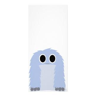 Cartão peludo azul da cremalheira do monstro 10.16 x 22.86cm panfleto