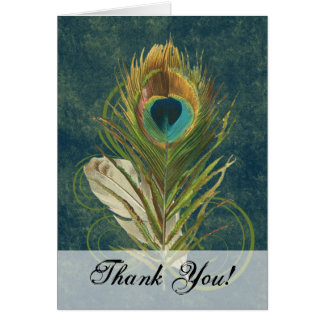 Cartão Pena artística do pavão
