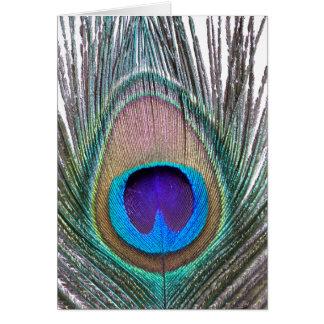 Cartão Pena do pavão