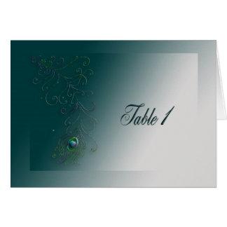 Cartão Pena do pavão, mesa 1