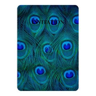 Cartão Pena parisiense do pavão do verde da cerceta do