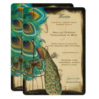 Cartão Pena romântica do Birdcage musical rústico do