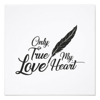 Cartão Pena verdadeira do amor da ilustração