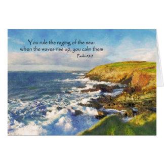 Cartão Penhascos do 89:9 do salmo na cabeça da galera,