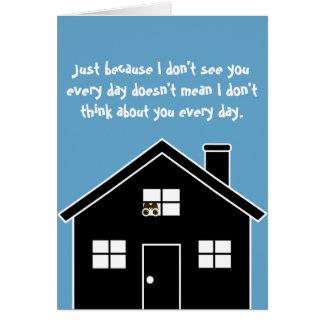 Cartão Pensamento ASSUSTADOR de você